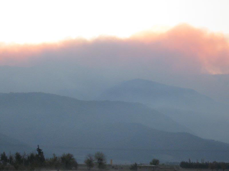 آتش سوزي جنگلهاي گلستان
